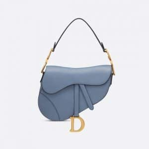 Dior Denim Blue Saddle Bag