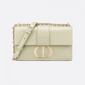 Dior Metallic Platinum 30 Montaigne Chain Bag