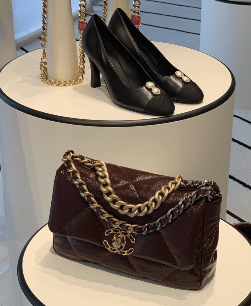 Chanel Burgundy Chanel 19 Flap Bag 4