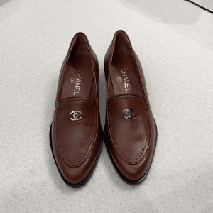 Chanel Burgundy Loafers