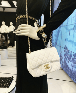 Chanel White Mini Flap Bag