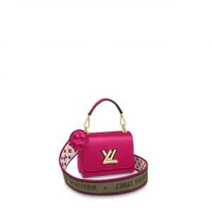 Louis Vuitton Agathe Rose Pink Twist Mini Bag with Monogram Flower Strap