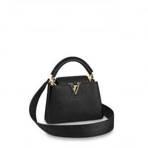 Louis Vuitton Black Mini Capucines Bag