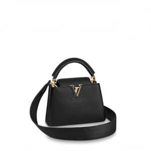 Louis Vuitton Black Mini Capucines Bag