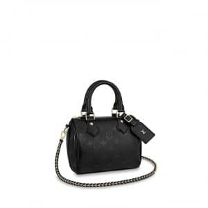 Louis Vuitton Black Monogram Empreinte Speedy BB Bag
