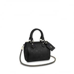 Louis Vuitton Black Monogram Empreinte Speedy BB Bag