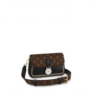 Louis Vuitton Black:Monogram Canvas with Chain Print Neo Saint Cloud Bag