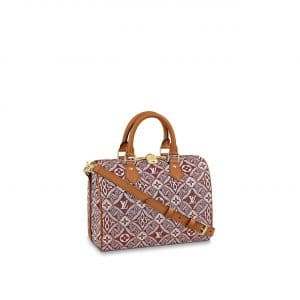 Louis Vuitton Bordeaux Since 1854 Speedy Bandouliere 25 Bag
