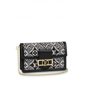 Louis Vuitton Gray Since 1854 Dauphine Chaine Wallet