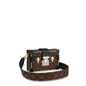 Louis Vuitton Monogram Canvas with Chain Print Petite Malle Bag