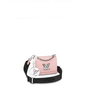 Louis Vuitton Rose Ballerine Pink Twist Mini Bag with Jacquard Strap