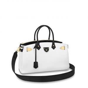 Louis Vuitton White:Black All Set Top Handle Bag