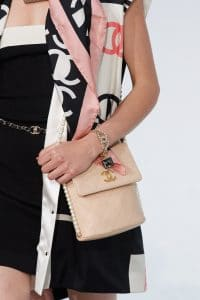 Chanel Beige Flap Bag with Pearl Strap - Spring 2021