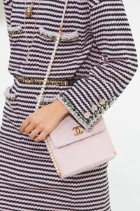 Chanel Light Pink Flap Bag with Pearl Strap - Spring 2021
