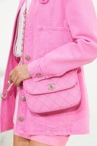 Chanel Pink Fabric Flap Bag - Spring 2021