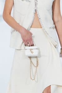Chanel White Micro Vanity Bag - Spring 2021