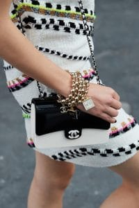 Chanel White:Black Flap Bag - Spring 2021