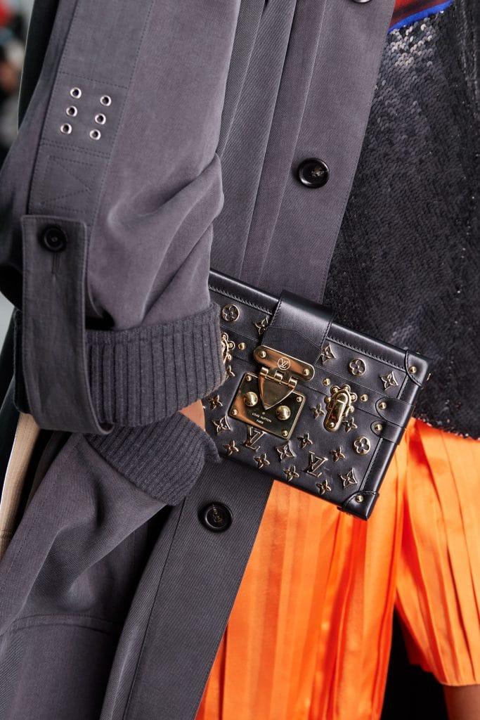 Louis Vuitton Black:Gold Logo Embellished Petite Malle Bag - Spring 2021