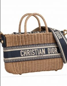 Dior Woven Basket Tote Cruise 2021