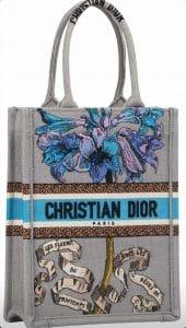 Dior Grey Vertical Book tote - Cruise 2021