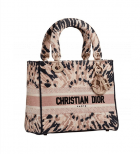Dior Medium D-Lite Pink Embroidery - Cruise 2021
