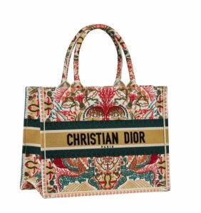 Dior Multicolor Floral Small Book Tote Bag