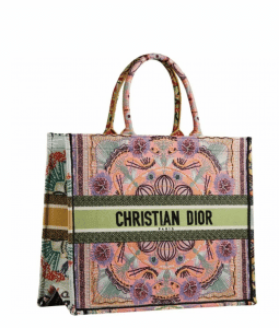 "Dior Book Tote ""Patchwork in Lights"" - Cruise 2021"