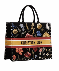 Dior Book Flowers Suede Tote - Cruise 2021
