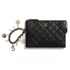 Chanel Black Coco Charms Pouch Bag