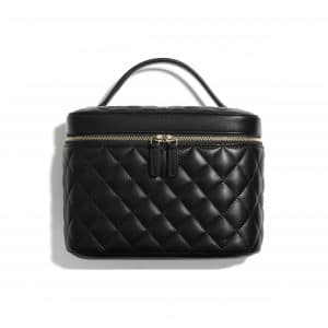Chanel Black Lambskin Classic Vanity Pouch