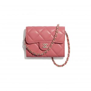 Chanel Coral Classic Clutch with Chain