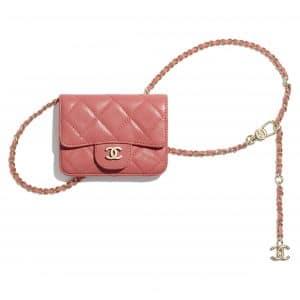 Chanel Coral Lambskin Classic Belt Bag