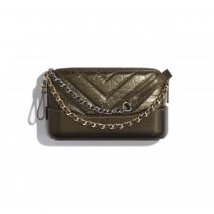 Chanel Gold Calfskin Gabrielle Clutch with Chain