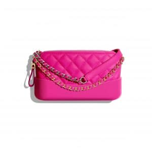 Chanel Pink Goatskin Gabrielle Clutch with Chain