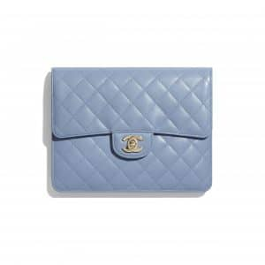 Chanel Sky Blue Lambskin Flap Case