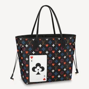 Louis Vuitton Black Game On Monogram Neverfull MM Bag