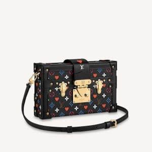 Louis Vuitton Black Game On Monogram Petite Malle Bag