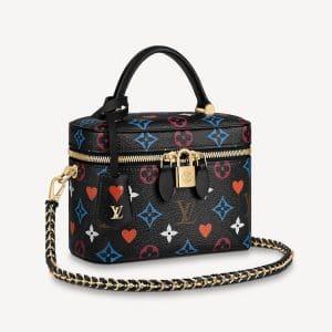 Louis Vuitton Black Game On Monogram Vanity PM Bag