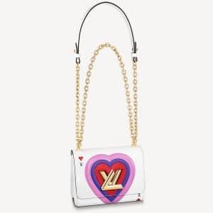 Louis Vuitton White Epi Game On Twist PM Bag