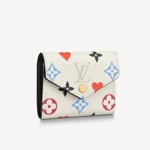 Louis Vuitton White Game On Monogram Canvas Zoé Wallet
