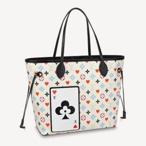 Louis Vuitton White Game On Monogram Neverfull MM Bag