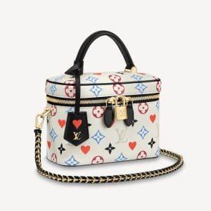 Louis Vuitton White Game On Monogram Vanity PM Bag