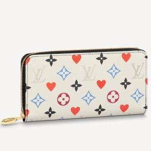 Louis Vuitton White Game On Monogram Zippy Wallet