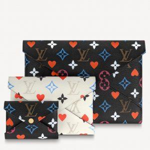 Louis Vuitton White/Black Game On Monogram Kirigami Pochette