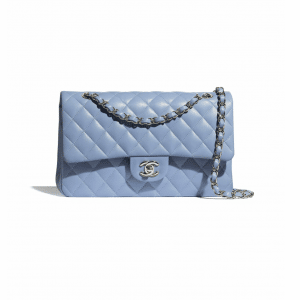 Chanel Sky Blue Medium Classic Flap Bag
