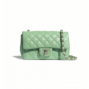 Chanel Green Mini Classic Flap Bag