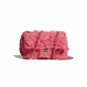 Chanel Coral Tweed Mini Flap Bag