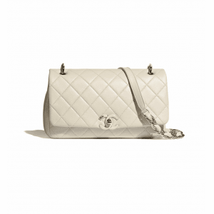 Chanel Beige Lambskin Large Flap Bag