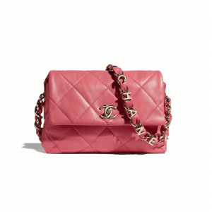 Chanel Coral Lambskin Small Flap Bag