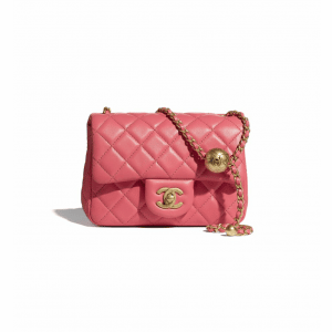 Chanel Coral Pearl Crush Mini Flap Bag